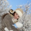 Stock Photo: Winter and woman