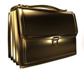 Business gold bag — Stock Photo