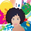 Afro lady vector — Stock Vector
