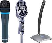 Microphones — Stock Vector