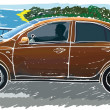 Royalty-Free Stock : Stylized sedan vector