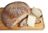 Bread and cheese — Stock Photo