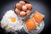 Cooking biscuits — Stock Photo