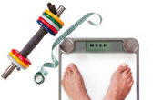 Feet in the balance — Stock Photo