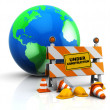Earth under construction — Stock Photo