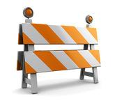 Under construction barrier — Stock Photo