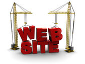 Web site construction — Stock Photo