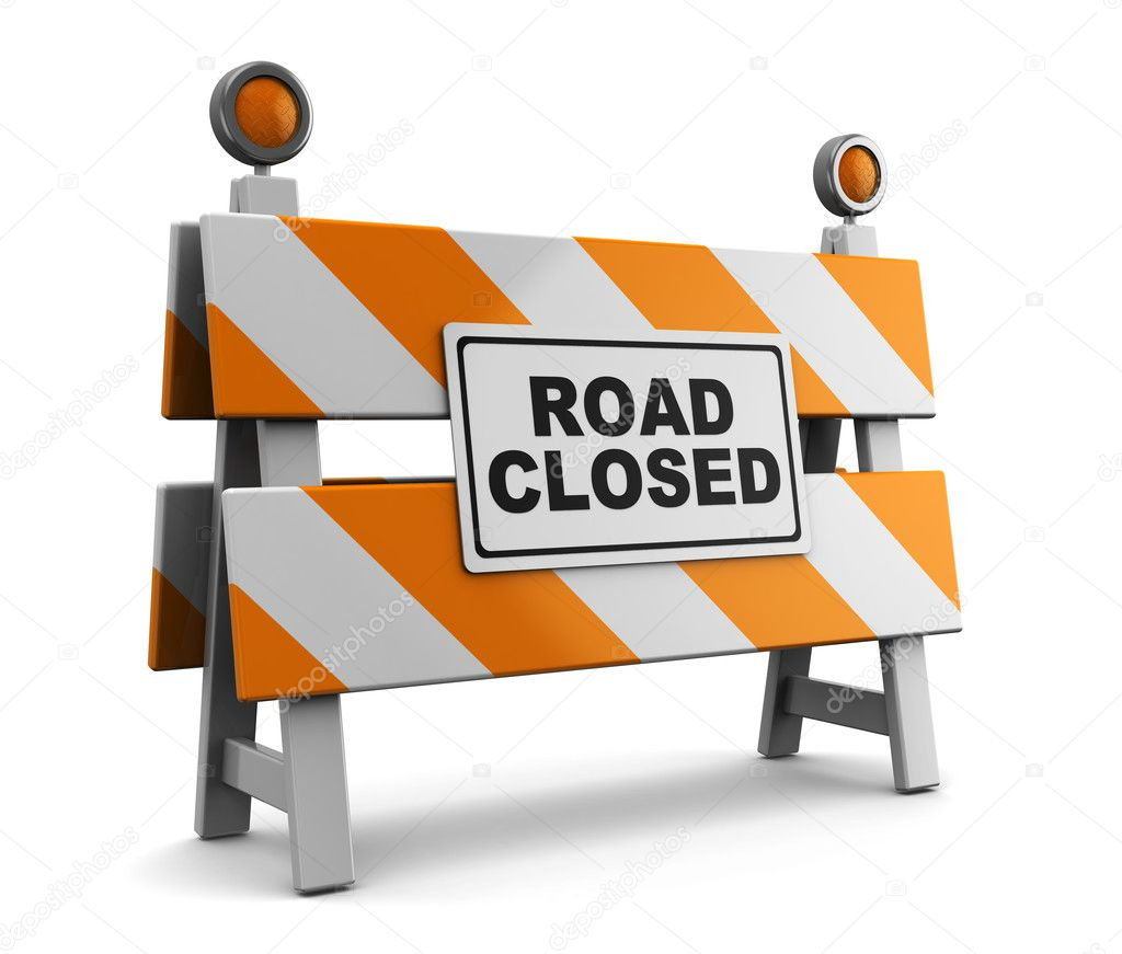 Road closed — stock photo mmaxer