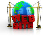 Web site building — Stock Photo