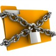 Locked folder - Stock Photo