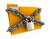 Locked folder — Stock Photo