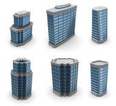 City buildings set — Stock Photo