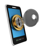 Locked phone — Stockfoto