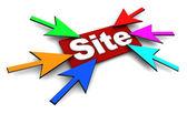Popular site — Stock Photo