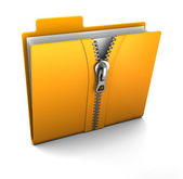 Compressed folder — Stock Photo