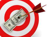 Dollar target hit — Stock Photo