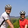 Happy Couple Bicycle Riders — Stock Photo