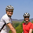 Happy Couple Bicycle Riders — Stock Photo #5462486