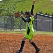 Girl Softball Pitcher — Stock Photo