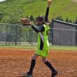 Girl Softball Pitcher — Stock Photo
