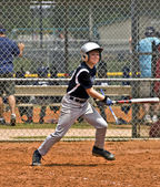 Boy's Baseball Batter — Stockfoto