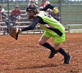 Girl Softball Player — Stock Photo