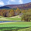 Beautiful Golf Course in Autumn - Stock Photo