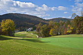 Golf Course in Autumn — Stock Photo