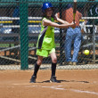Softball Girl at Bat — Stock Photo