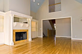 Modern Interior with Fireplace — Stock Photo