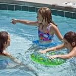 Three Girls in a Pool — Stock Photo #5730955