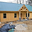 Small House Under Construction — Stock Photo