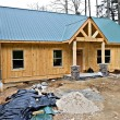 Stock Photo: Small House Under Construction