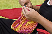 Crocheting a Hat — Stock Photo
