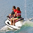 Family on Jet Ski — Stock Photo