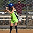 Young Girl Sofball player at Bat — Stock Photo #5885813