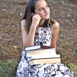 Young Girl with Books — Stock Photo #5885835