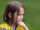 Cute Wet Girl Profile — Stock Photo