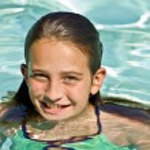 Preteen Girl in a Pool — Stock Photo #6381322