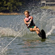 Stock Photo: Young Girl Water Skiing