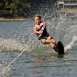 Young Girl Water Skiing - Stock Photo