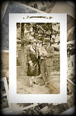 Vintage Photo of Family with Baby — Stock Photo