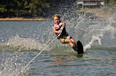 Young Girl Water Skiing — Stock Photo