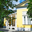 A fragment of the old manor houses in the summer in the park Kuzminki - Stock Photo
