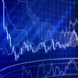 Forex chart for currency trading — Stock Photo