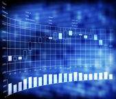 Forex trade indicators with japan candles — Stock Photo