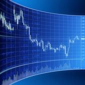 Forex graphic for currency trading — Stock Photo