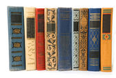 Old books isolated — Stock Photo