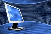 Abstract and computer monitor — Stock Photo