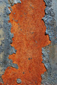 Cracked rusty metal surface — Stock Photo